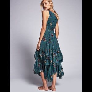 "Free people ""Catching Glances"" Chiffon silk dress"